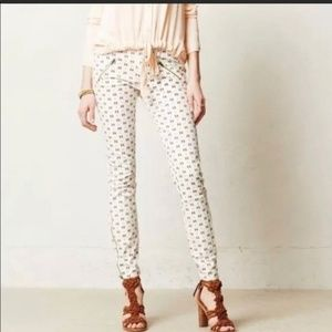 Anthro Pilcro printed pants jeans